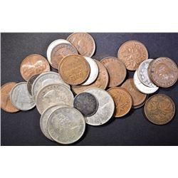 COIN LOT:  (5) CANADA SILVER QUARTERS,
