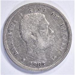 1883 HAWAII DIME  VF+