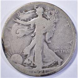 1921-D WALKING LIBERTY HALF DOLLAR  G