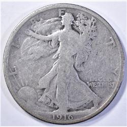1916 WALKING LIBERTY HALF DOLLAR  VG