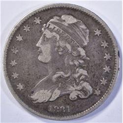 1831 CAPPED BUST QUARTER  CHOICE VF