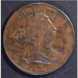 1806 DRAPED BUST HALF CENT  XF/AU