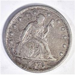 1876 TWENTY CENT  KEY DATE  XF RARE!!