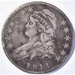 1811/10 CAPPED BUST HALF DOLLAR XF