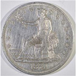 1874-CC TRADE DOLLAR, AU/BU cleaned