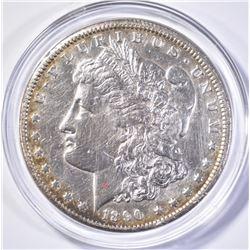 1890-CC MORGAN DOLLAR, AU+