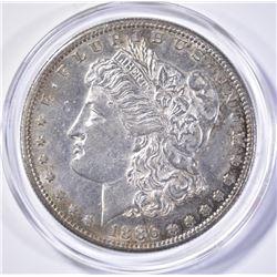 1886-S MORGAN DOLLAR, CH BU KEY DATE