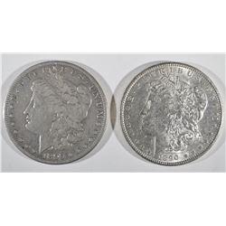 1890 CH BU & 99-S VF MORGAN DOLLARS