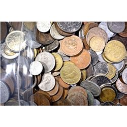 19+ POUNDS WELL MIXED FOREIGN COINS-