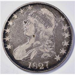 1827 BUST HALF DOLLAR  VF/XF  FEW MARKS