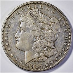 1904-S MORGAN DOLLAR  CH XF/AU