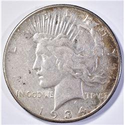 1934-S PEACE DOLLAR  AU+  KEY DATE