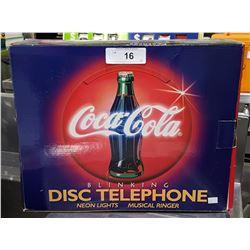 NIB COCA-COLA DISC TELEPHONE