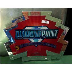 ORIGINAL DIAMOND POINT GLASS SLOT MACHINE MARQUEE