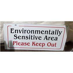 ORIGINAL ENVIRONMENTALLY SENSITIVE AREA SIGN