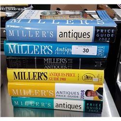 6 MILLER'S ANTIQUES HARD COVER REFERENCE BOOKS