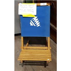VINTAGE MOHAWK GAS STATION FOLDING CHAIR