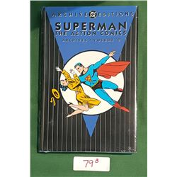 SUPERMAN THE ACTION COMICS ARCHIVES VOL.2 HARD COVER COMIC BOOK