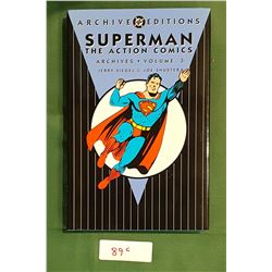 SUPERMAN THE ACTION COMICS ARCHIVES VOL. 3 HARD COVER COMIC BOOK