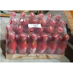 SEALED CASE OF OLYMPIC COCA-COLA TIN BOTTLES