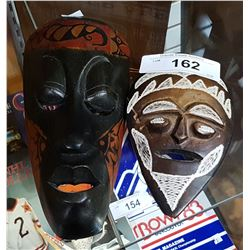 2 SMALL AFRICAN MASKS