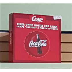 NIB COCA-COLA FIBRE OPTIC BOTTLE CAP LAMP