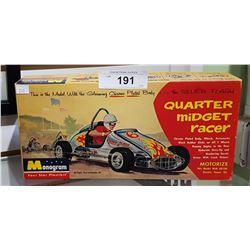 1960 QUARTER MIDGET RACER MODEL CAR BOX ONLY