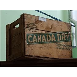 VINTAGE 1950'S CANADA CRY WOOD CRATE