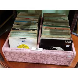 COLLECTION OF VINTAGE ROCK 45'S