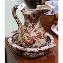 VINTAGE JUG AND BASIN IN CHINTZ PATTERN