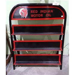 CUSTOM RED INDIAN MOTOR OIL RACK