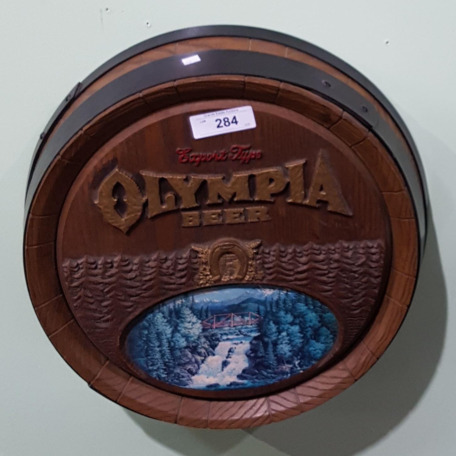 Sign olympia beer Vintage Beer