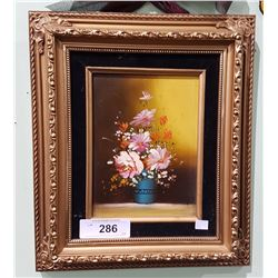 UNIQUE GILT FRAMED OIL PAINTING WITH HIDDEN JEWELRY BOX