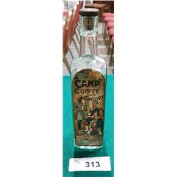 VINTAGE 1920'S CAMP COFFEE WITH CHICORY BOTTLE