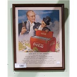 FRAMED 1950 COCA-COLA AD