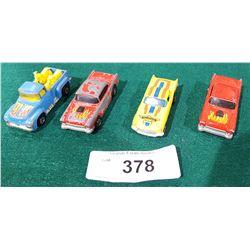 4 VINTAGE HOTWHEELS DIE CAST CARS