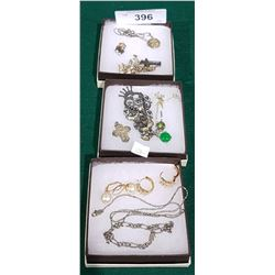 COLLECTION OF ESTATE JEWELRY INCLUDING SOME STERLING SILVER