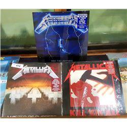 3 VINTAGE COLLECTIBLE METALLICA LP'S
