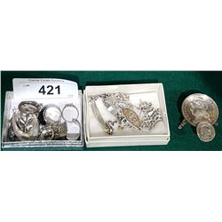 COLLECTION OF STERLING SILVER ESTATE JEWELRY