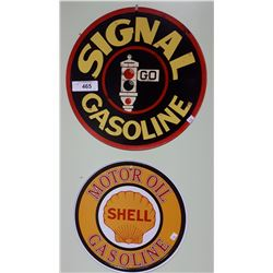 2 TIN GASOLINE SIGNS