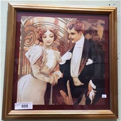 GILT FRAMED ART DECO STYLE PICTURE