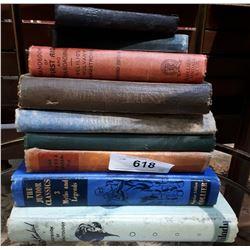 9 VINTAGE/ANTIQUE BOOKS