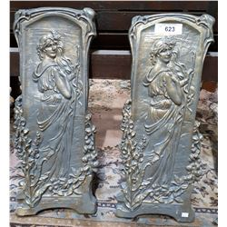 PAIR OF FRENCH STYLE DECORATIVE PANELS