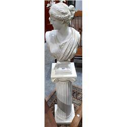 ROMAN BUST ON COLUMN