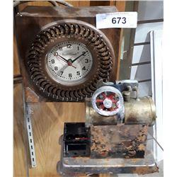 VINTAGE STEAM ENGINE MODEL AND JAMES REMINDO TIMER