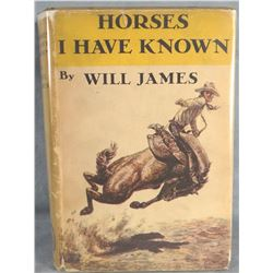 James, Will, Horses I Have Known, 1st, 1940, dj, good