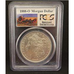 2 Morgan dollars: 1888 O, PCGS BU and 1888 PCGS MS 63
