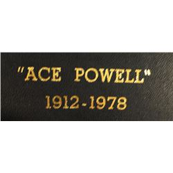 Ace Powell, 1912 - 1978, Ltd Edition Book, #88/100, w/ signed etching, 1979, signed by Senator Mike