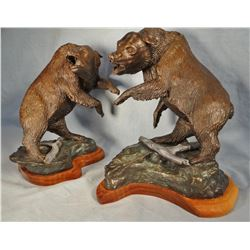 "Kuenzal, W. M. bronze, two Grizzlies, 4/12, 11"" h x 9"" w"
