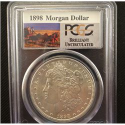 2 Morgan dollars: 1898, PCGS BU and 1902 O, PCGS BU